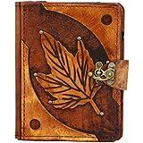 A Little Present Spring Leaf Dekoration Vintage Leder Geldbörse (Hardcover Schutzhülle mit Schloss für Kindle/Kobo Glo/Touch/Aura/Sony/PRS–Braun - gut und günstig