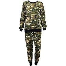 Da donna famosa Inspired Leopard militare con stampa mimetica tuta da Jogging - Tuta Militare