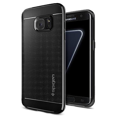 Coque Galaxy S7 Edge, Spigen [Neo Hybrid] PREMIUM BUMPER [Black Pearl] Bumper Style Premium Case Slim Fit Dual Layer Protective Coque Samsung Galaxy S7 Edge (2016) - (556CS21154)