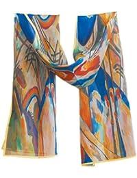 Prettystern P119 - 160cm Foulard Echarpe Soie Artwork Reproduction Peinture abstraite - Wassily Kandinsky - Compositions IV
