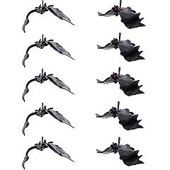 Idea Regalo - Set di 10 decorazioni di Halloween realistico guardando pipistrelli spaventosi per i migliori favori di Halloween e decorazione
