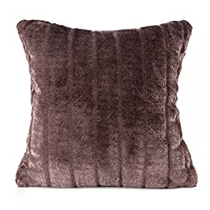 40x40 braun schoko schokolade Plüschkissenbezug Kissenbezug Kissenbezüge pflegeleicht brown choco chocolate PARIS