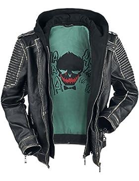 Escuadrón Suicida The Joker Cazadora de cuero Negro