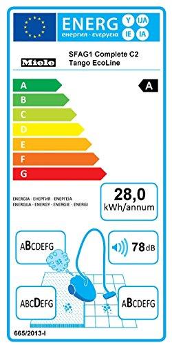 Miele Complete C2 Tango EcoLine Bodenstaubsauger / A / Mangorot / 6-stufiger Drehregler / AirClean-Filter / SBD 290-3 / 10 m Aktionsradius / Integriertes Zubehör -