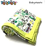TuddyBuddy Bedding Sheet Cum Top Sheets for Baby | Dohar for Kids | Ideal for 0-3 yrs Kids. Swaddle Blanket, AC Blanket, Baby Wrapper, Quick Dry Swaddle Wrap. 100% Cotton Muslin | 115x142 Cms - Jungle Sketch
