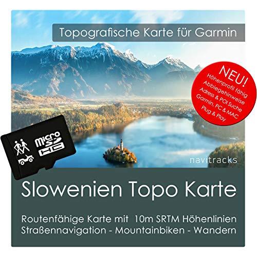 Slowenien Garmin Karte TOPO 4 GB microSD. Topografische GPS Freizeitkarte für Fahrrad Wandern Touren Trekking Geocaching & Outdoor. Navigationsgeräte, PC & MAC Garmin Streetpilot C580