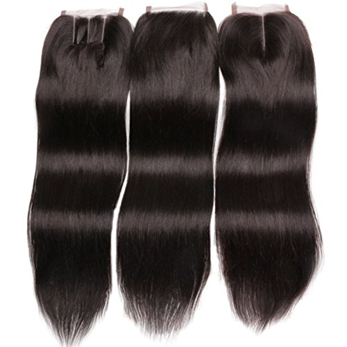 Fureya Hair Brazilian Virgin Hair Human Hair Schlie?ung With Baby Hair Straight Top Lace Closure Part 14