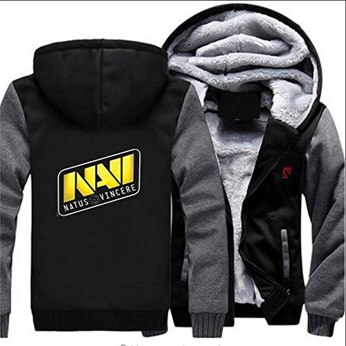 THICKEN Hoodie Fleece Cardigan Zipper Starke Mit Kapuze Strickjacke-Mantel-Kleidung DOTA2 Navi Dend Tops Winter Warm C- L