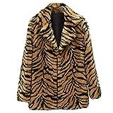 Soupliebe Frauen beiläufige warme Winteroberseite Damen Leopard Druck Pullover Pullover Outwear Jacken Mäntel Sweatjacke Winterjacke Fleecejacke Steppjacke
