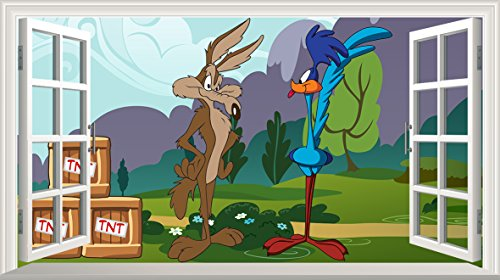 road-runner-wile-e-coyote-v002-magic-window-wall-sticker-self-adhesive-poster-wall-art-size-1000mm-w