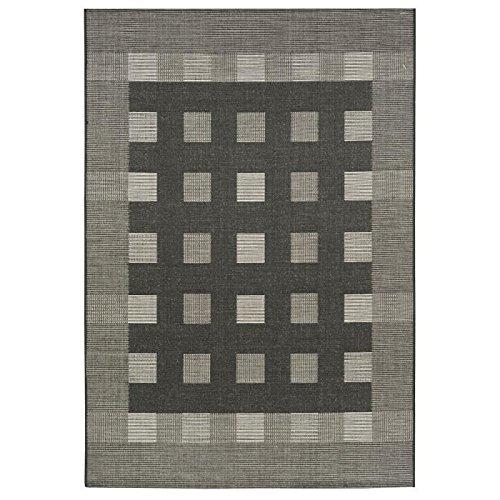 Floorluxe tapis de salon 160x230 cm black silver