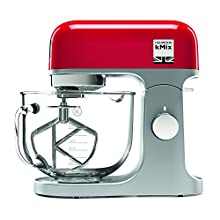 Kenwood kMix Stand Mixer for Baking, Stylish Kitchen Mixer with K-beater, Dough Hook and Whisk, 5 Litre Glass Bowl, Removable Splash Guard, 1000 W, Red