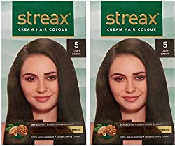 STREAX Cream Light Brown 5, Pack of 2, Hair Color (Light Brown 5)