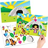 Baker Ross Kits de escenas para Adhesivos de Semana Santa, perfectos para Manualidades y Decoraciones Infantiles de Pascua (Pack de 4)