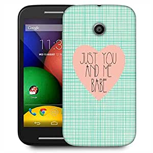 Snoogg Just You And Me Babe Designer Protective Phone Back Case Cover For Motorola E2 / MOTO E22