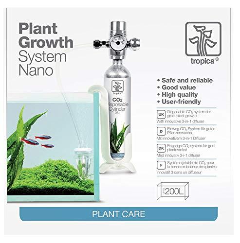 Tropica CO2 Set Anlage - Düngung für Pflanzen bis 200l Aquarien Nano Becken -