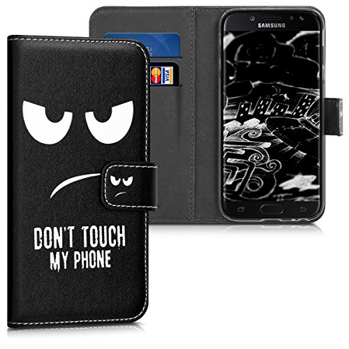 kwmobile Samsung Galaxy J3 (2017) DUOS Hülle - Kunstleder Wallet Case für Samsung Galaxy J3 (2017) DUOS mit Kartenfächern & Stand