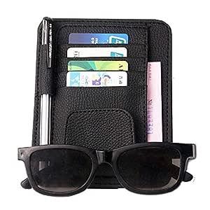 Electomania Car Visor Sun Glass Clip/Card Holder, Black