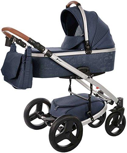 Knorr Baby 2356-2 K-One Script 2in1 Kombi-Kinderwagen Blau