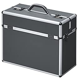 Pilot case aluminum black With combination lock metal case aluminum case