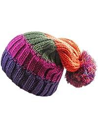 Unisex Ski Stripe Design Bobble Hats by Rockjock