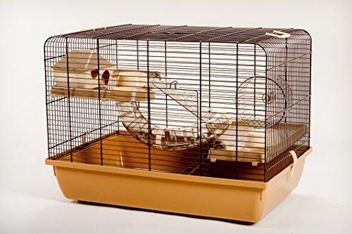 Retro Nagerkäfig mit viel Zubehör Starterset 60 cm x 40 cm x 45 cm 2 Etagen