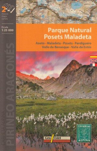 Posets-Maladeta, Parc Naturel, 2-Map Set, 1:25 '000, Alpina Editions