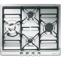 Smeg SR60GHS hobs - Placa (Integrado, Gas, Cast-iron, Giratorio, Frente, 220 - 240V) Acero inoxidable