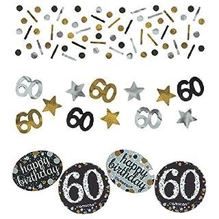 Amscan 36018834G Gold Celebration 60. Konfetti