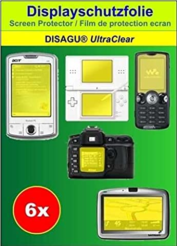 6 x Ultra Clear Displayschutzfolie für Thomson Lyra EM2801 / EM2802 / EM2804