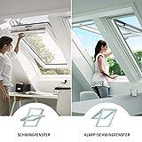 VELUX Dachfenster Kunststoff I Klapp-Schwingfenster GPU 0070 I MK08 | 78x140 cm