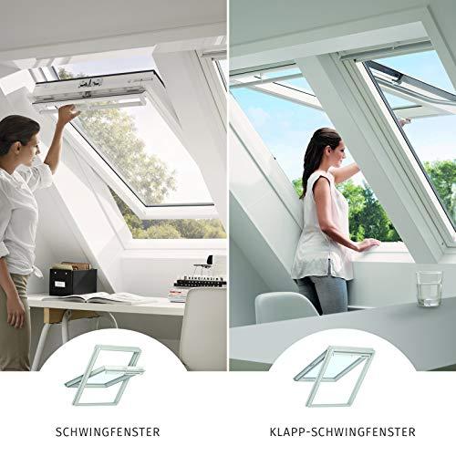 VELUX Dachfenster Kunststoff I Klapp-Schwingfenster GPU 0070 I SK08 | 114x140 cm