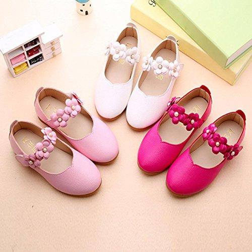 BZLine® Sommer Mädchen Sandalen Kleinkind Mädchen Prinzess Schuhe Flat Schuhe Hot Pink