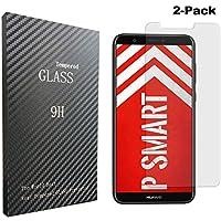 [2-Unidades]Huawei P Smart Protector de Pantalla, Songsong Protector de Pantalla Cristal Vidrio Templado para Huawei P Smart Screen Protector Alta Transparencia 3D Touch Sin burbujas