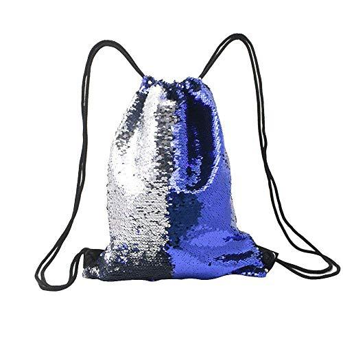 Pailletten Tasche, Magic Sparkly Pailletten Kordelzug Rucksack Glitter Sport Tanz Tasche Shiny Outdoor Beach Reiserucksack Glitter Bling (Farbe: E, Größe: Einheitsgröße)