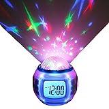 S.I.S Projection d'étoiles Réveil LED Calendrier de Changement de Couleur avec...