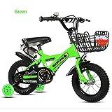 Bike Kinderfahrräder Freestyle Fahrräder Kid Hilfsrad,U-Bremse,12,14,16,18,20 Zoll,1 Geschwindigkeit Mehrfarben,Green,18In