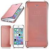 MoEx Apple iPhone 5S | Hülle Transparent TPU [OneFlow Void Cover] Dünne Schutzhülle Rosé-Gold Handyhülle für iPhone 5/5S/SE Case Ultra-Slim Handy-Tasche mit Sicht-Fenster