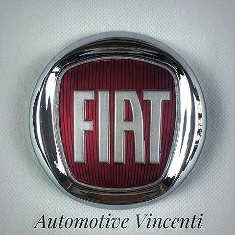 Fregio Escudo Logo Fiat Rojo 500Bravo Grande Punto Idea delantero