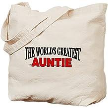 "CafePress–The world 's Greatest Auntie ""–Gamuza de bolsa de lona bolsa, bolsa de la compra"