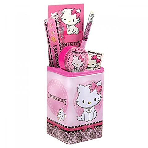Charmmy Kitty set scolaire pot à crayons garni fournitures scolaires nouveaute Sanrio Hello Kitty