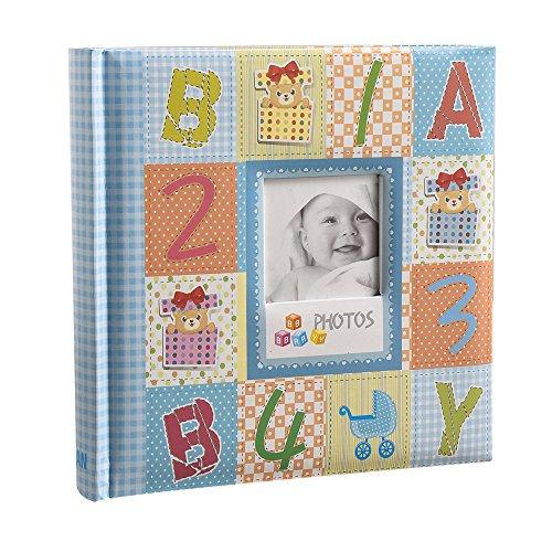 Arpan Einsteckalbum für Babyfotos, für 200 Fotos á 10x15cm, groß, blau