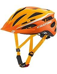 Cratoni Pacer Fahrradhelm-orange-white mat