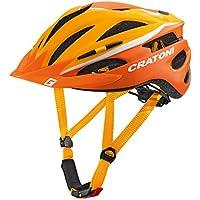 Cratoni Pacer Bicicleta Casco, Primavera/Verano, Unisex, Color Orange/White Matt, tamaño Extra-Small/Small
