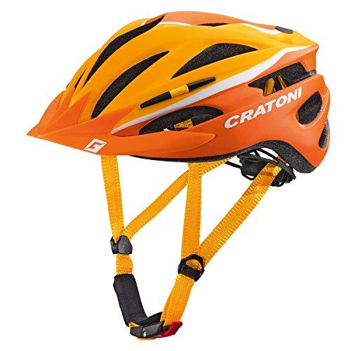 Cratoni Pacer Fahrradhelm, Orange/White Matt, S-M