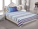 ELAN 100% Cotton Satin Stripe Single Bed...