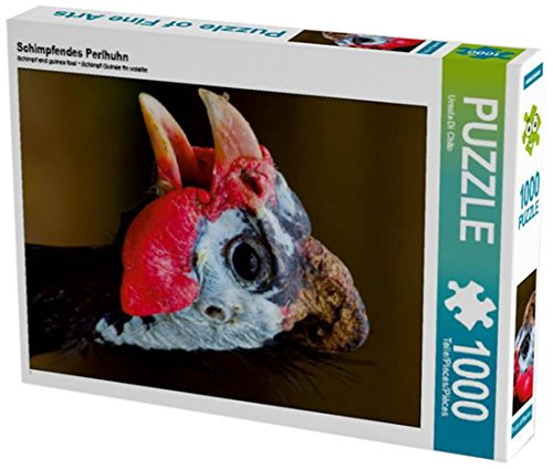 Schimpfendes Perlhuhn 1000 Teile Puzzle hoch (CALVENDO Tiere)