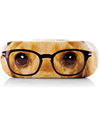 Brillenetui DACHSHUND WITH GLASSES pink