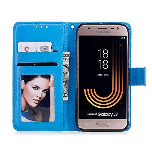 Funyye-Magnetico-Flip-Custodia-per-Samsung-Galaxy-J330J3-2017Pelle-Premium-Porcellana-Fiore-Pattern-Sottile-Morbida-Portafoglio-con-Supporto-Magnetico-Snap-Carta-Slots-PU-Leather-CustodiaFull-Body-Ant