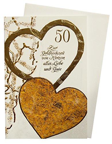 Glückwunschkarte 50 zur Goldenen Hochzeit 72-1152